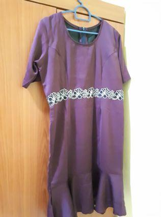 Custom made purple dress