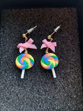 🚚 Handmade Earrings Lollypop