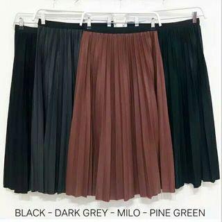 Midi Pleated Skirt Import