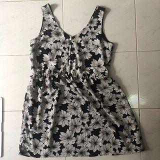 Mango Floral Mini Dress
