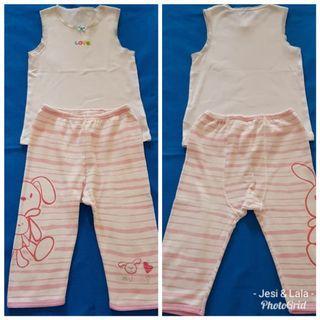 Setelan Baju Anak Perempuan MOTHERCARE size 1-2 thn