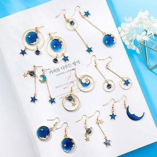 🚚 Korean Moon & Stars Earrings PO