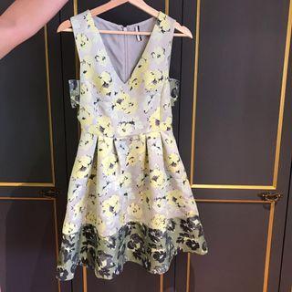 Yellow floral Topshop dress UK 8 Eu 36 US 4