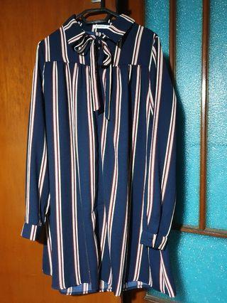 Brand New Glamorous/ASOS Tall Pinstriped Shift Dress