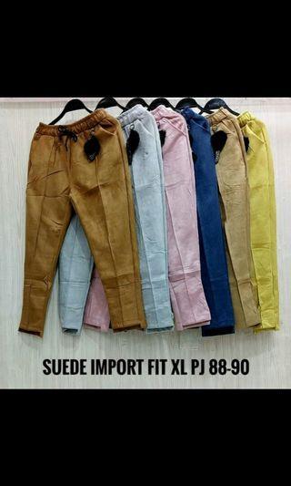 Celana Suede Import