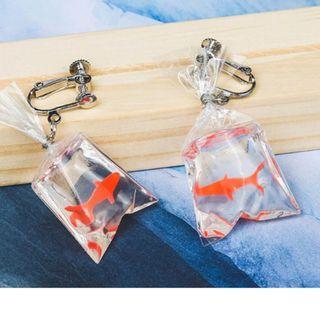 🚚 Unique Koi Fish Packet Earrings