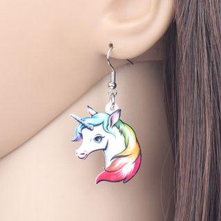 🚚 Rainbow Unicorn Earrings