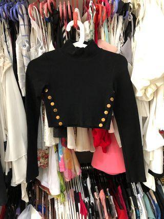 Black color long sleeve top