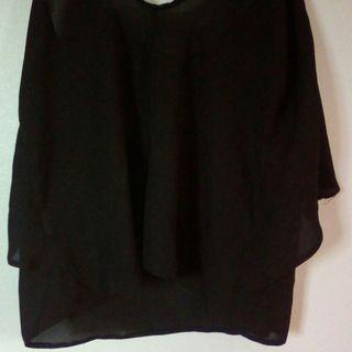 Black singlet top small