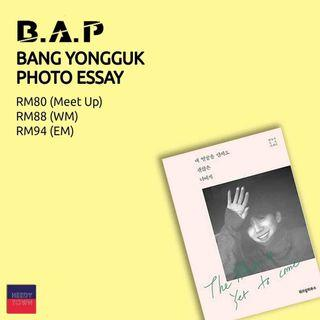 (PRE-ORDER) BANG YONGGUK PHOTO ESSAY