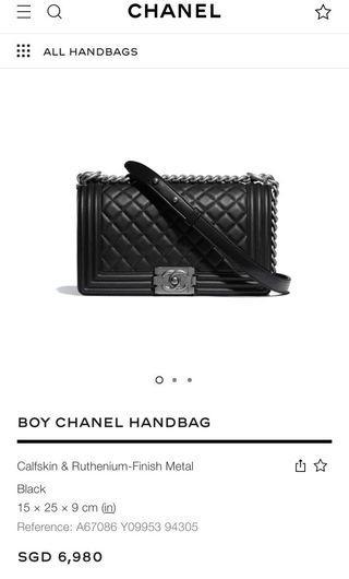 Chanel Boy Medium Caviar RHW