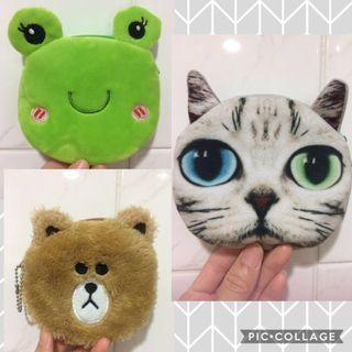 動物 零錢包_貓咪 / 熊 / 青蛙