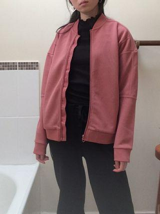 dusty pink bomber size 8 s