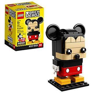 LEGO BrickHeadz 米老鼠 41624 建筑套件 (109 件),多色  LEGO 6225330 Brickheadz Mickey Mouse 41624 Building Kit (109 Piece), Multicolor