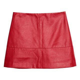 H&M Premium Leather A line skirt