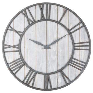 Creative Roman Wall Clock With White Wood Base 40cm/60cm