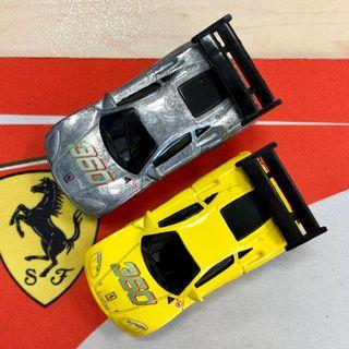 Hot Wheels 'Tooned' Ferrari 360 Modena yellow and ZAMAC versions