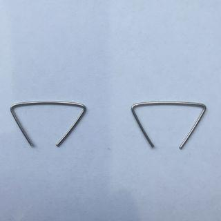 Minimalist silver wire earrings