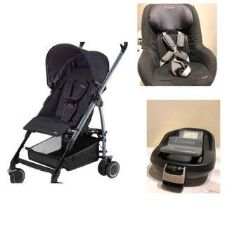 🚚 Maxi Cosi Bundle Deal - Stroller, Car Seat, Isofix