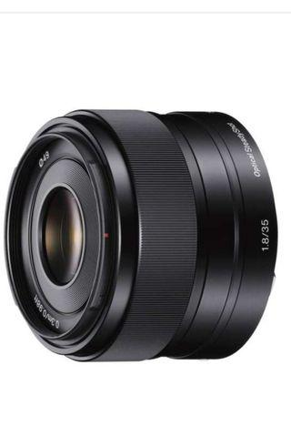 Sony 35mm f1.8 APSC lens