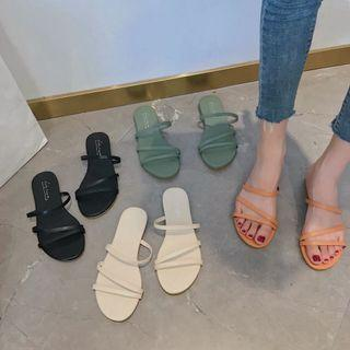PO Simple Chic Ulzzang Slip ons Straps Sandals