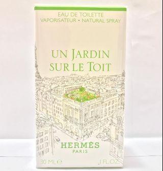 全新Hermes Un Jardin Sur Le Toit EDT 屋頂花園淡香水 30ml/50ml