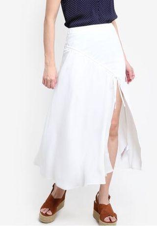 BNWT Top Shop Side Slit White Long skirt S