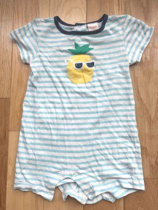 Gymboree Cool Pineapple Stripe Bodysuit