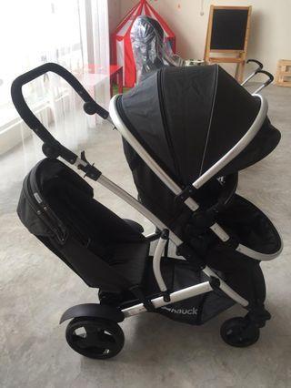 Twin stroller hauck