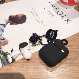 Snoopy Airpods保護套 snoopy史努比掛飾 查理布朗鎖匙扣 耳機保護套 硅膠保護套 airpods case