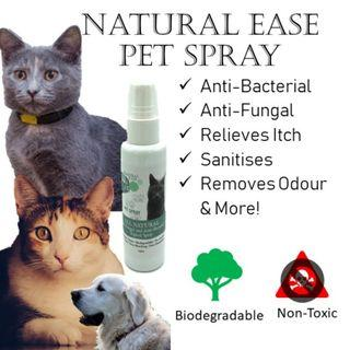 🚚 [Natural Ease] Pet Spray: natural, protects, heals, anti-bacterial & anti-fungal,  wound-healing, deodorant, stop itch