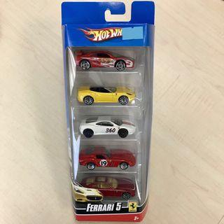 PRICE REDUCED! Hot Wheels Ferrari 5 Gift Pack (Set 2)