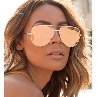 🚚 全新正品特價✨Quay Australia x Desi High Key鏡面飛行員太陽眼鏡 (金色) Kylie Jenner同款
