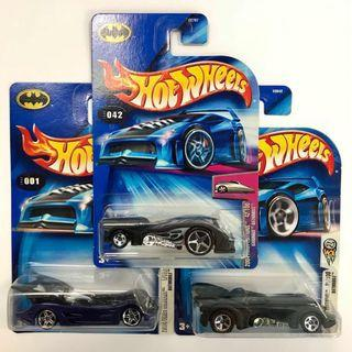 PRICE REDUCED! 2004 Hot Wheels Batmobiles set of 3 cars