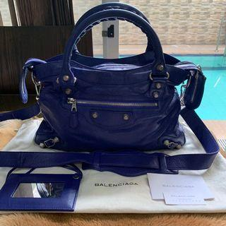 Authentic Balenciaga Town Purple/Silver HW