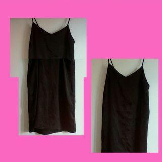 Black slip dress size 8