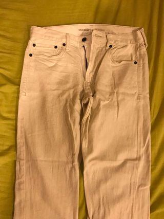 🚚 Old navy白色牛仔褲