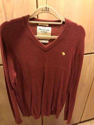 🚚 Abercrombie & Fitch針織V領毛衣