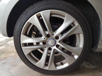 Mercedes W204 17 inch Rim Ori