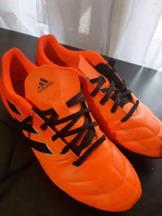 Sepatu Bola Adidas Ace 17.4 Fxg Orange/black Ukuran 43