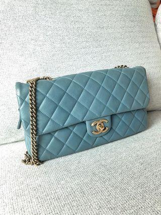 Chanel Blue CC Crown Flap Bag