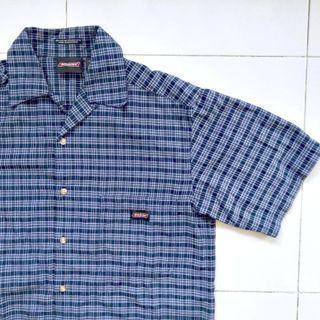 Dickies Vintage Plaid Button Down Short Sleeve Shirt