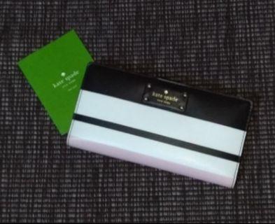 Kate Spade Stacy  WLRU3145 Grove Street Classic Stripe Wallet