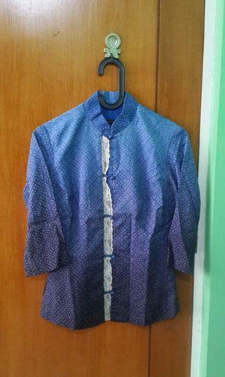 Gradient cheongsam shirt