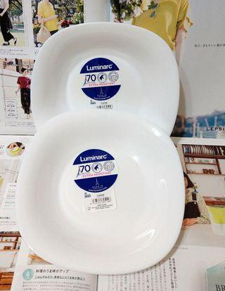 Luminarc法國樂美雅 卡潤系列系列強化餐盤-21CM方深盤2入