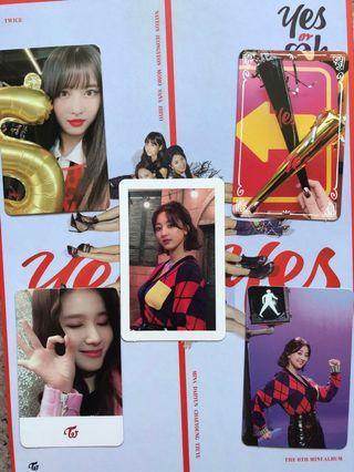 WTS/WTT Twice YOY photocards