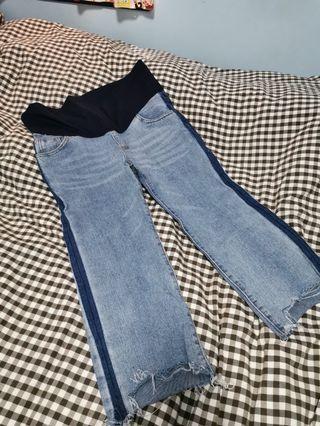 全新 淺色孕婦牛仔褲
