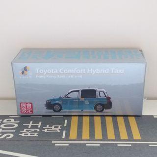 全新Tiny展會限定大嶼山藍色豐田的士車仔模型 非Tomica