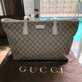Authentic Gucci Canvas White Tote