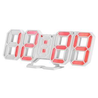 HS1203 電子LED數字鬧鐘可調亮度溫度顯示紅色背光燈帶貪睡功能